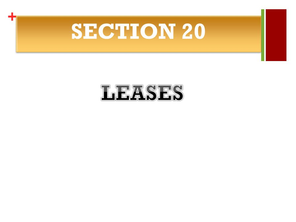 + SECTION 20