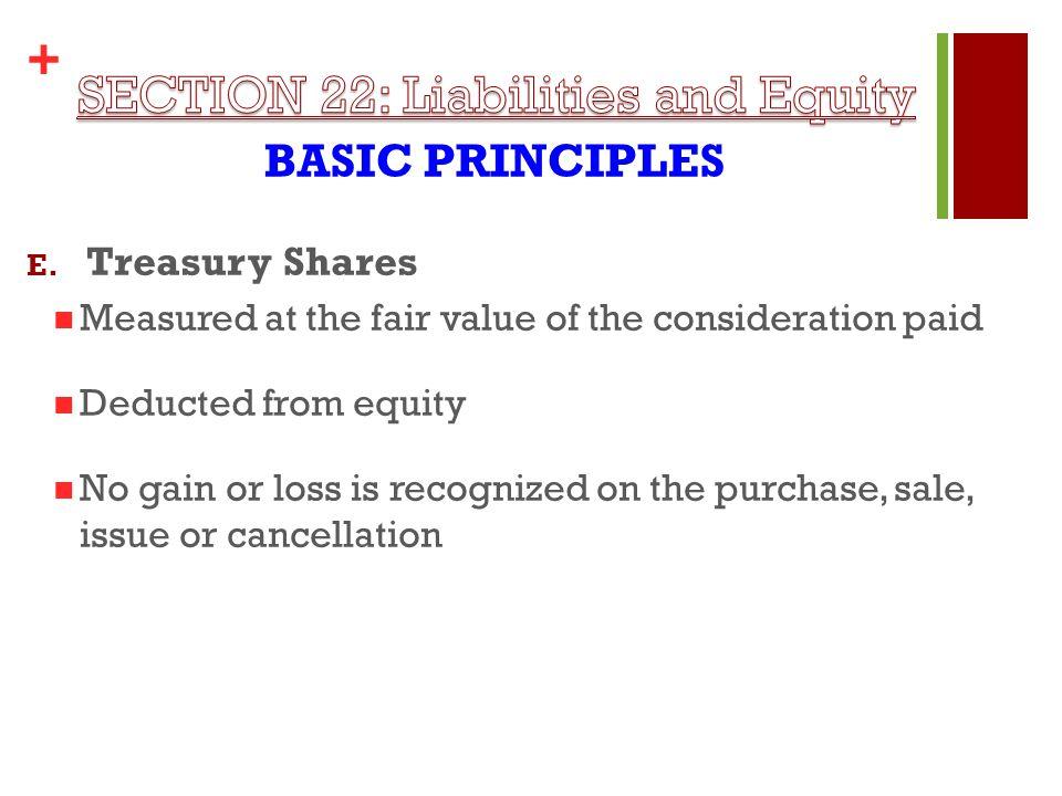 + BASIC PRINCIPLES E.