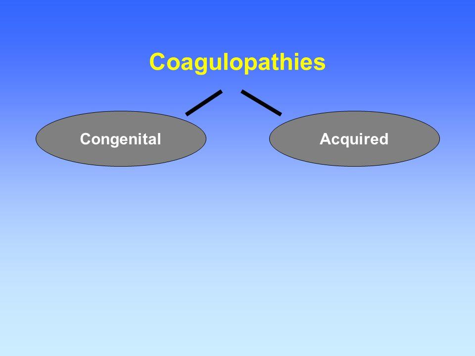 Coagulopathies AcquiredCongenital