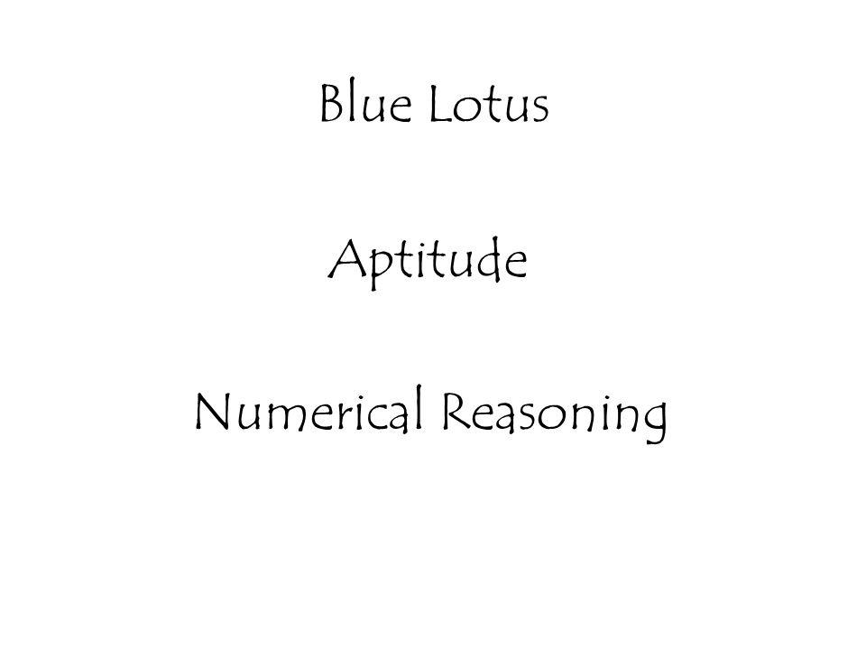 Blue Lotus Aptitude Numerical Reasoning