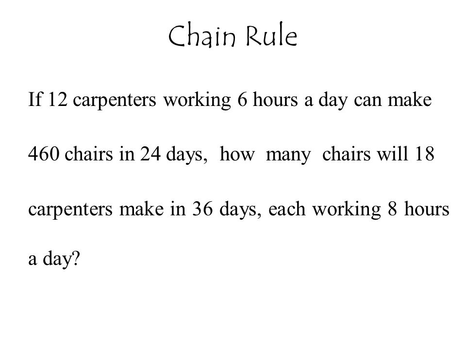 If 12 carpenters working 6 hours a day can make 460 chairs in 24 days, how many chairs will 18 carpenters make in 36 days, each working 8 hours a day?