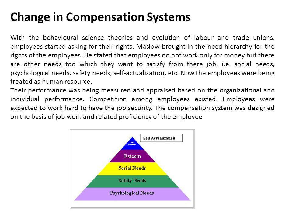Elements of Total Compensation Total Compensation Intrinsic Rewards System (Self Administered Psychological Rewards) Teamwork * Challenge Empowerment * Recognition * Security Extrinsic Rewards System (Administered by Others) Financial Direct Compensation (Paycheck Pay) Basic Salary Performance-Based Pay Bonuses/Variable Pay Merit Pay Incentive Pay Indirect Compensation (Benefits) Public Protection (Legally Required) Social Security Unemployment Disability Private Protection Pensions Saving Supplemental unemployment Insurance Paid Leave--Off Job Vacations Sick Day Bereavement Personal Leave Holidays Paid Leave--On Job Training Work Breaks Rest Periods Miscellaneous Benefits Legal Advice Eldercare Daycare Wellness Perquisites Moving