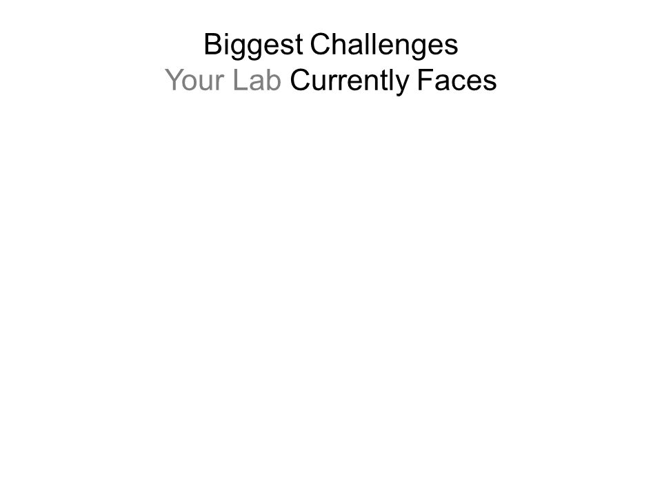 Biggest Challenges Your Lab Currently Faces