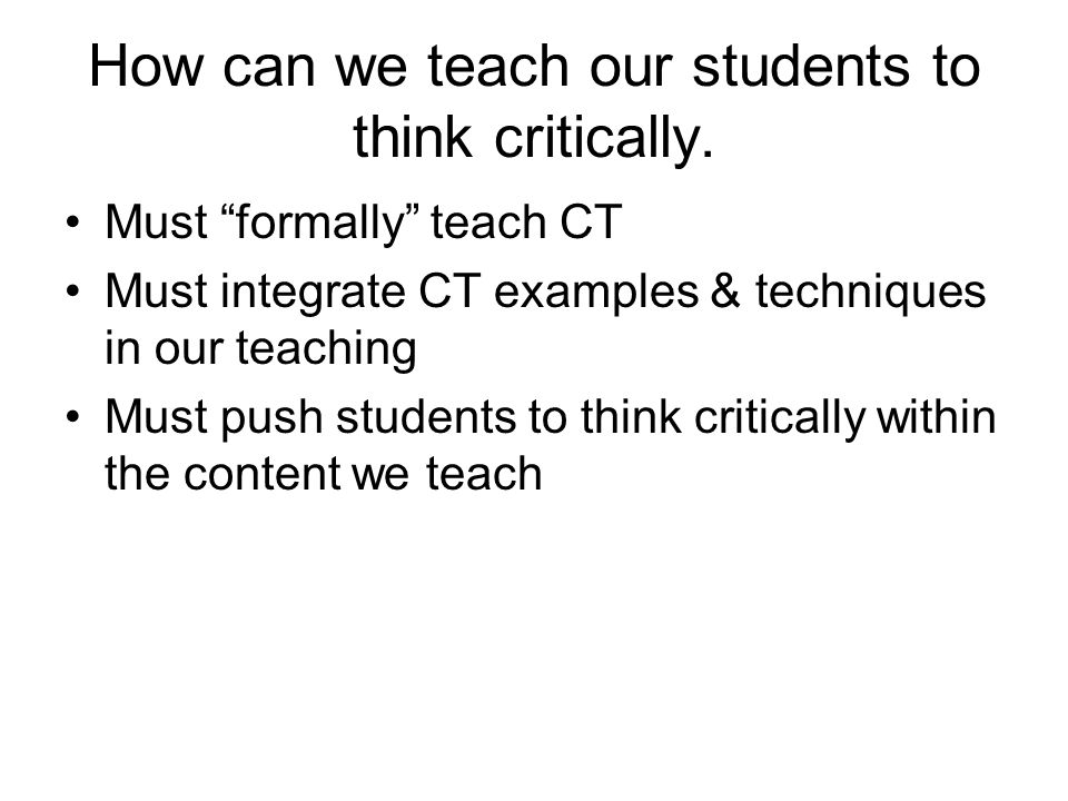 Conditions for CT Think about Think with Think for Thinking models