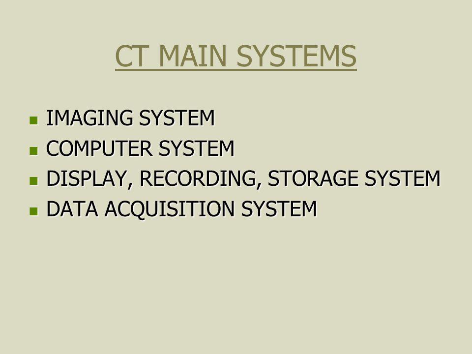 CT OPERATING SYSTEM UNIX UNIX WINDOWS WINDOWS