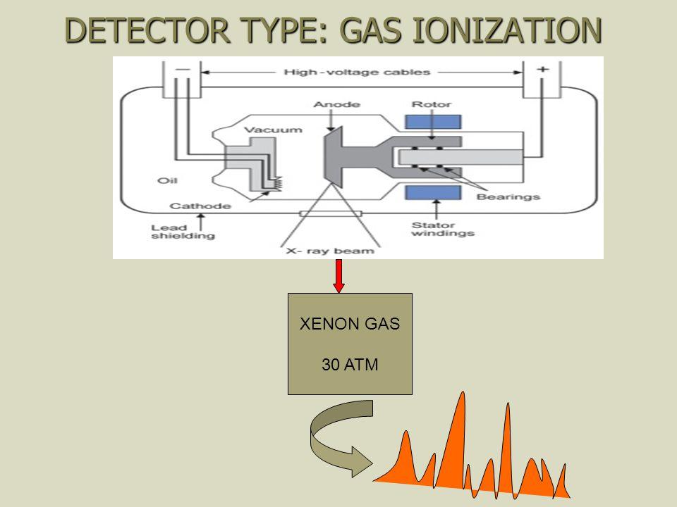 DETECTOR TYPE: GAS IONIZATION XENON GAS 30 ATM