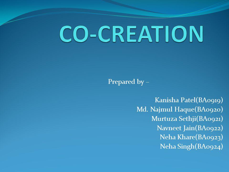 Prepared by – Kanisha Patel(BA0919) Md.