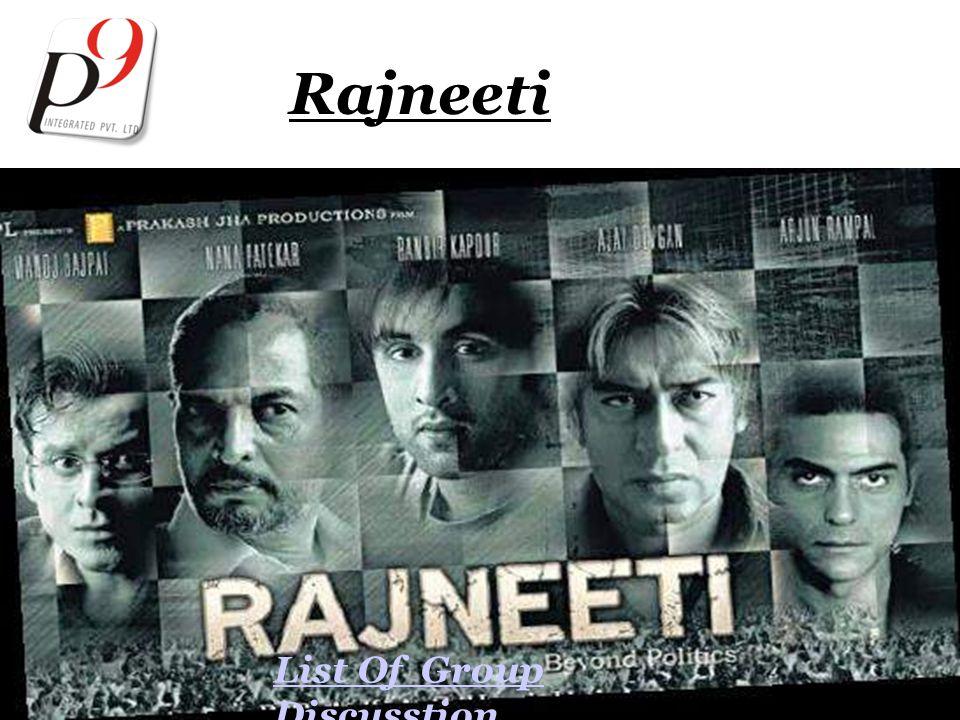 Rajneeti List Of Group Discusstion