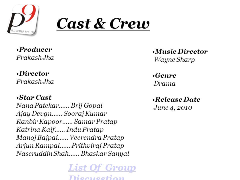 Cast & Crew Producer Prakash Jha Director Prakash Jha Star Cast Nana Patekar......