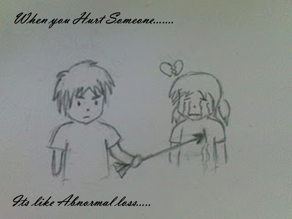 When you Hurt Someone……. Its like Abnormal loss…..