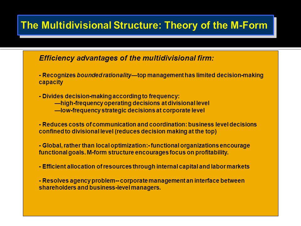  Constraints upon decentralization.