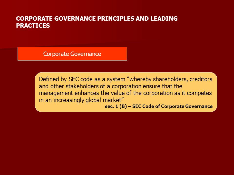 Duties and Responsibilities of Individual Directors SEC Code IC Code Commission and, where applicable, the requirements of relevant regulatory agencies.