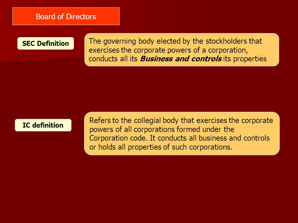 Principles: Every Company should be headed by an effective Board to lead and control the company to ensure its success.