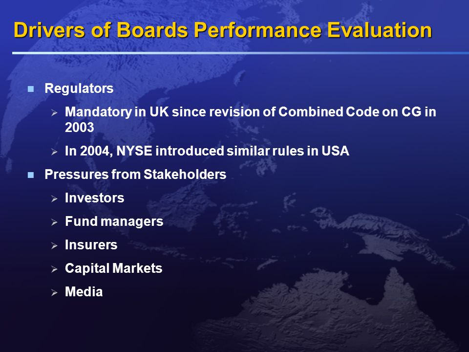 The Evaluation Process Who should conduct the evaluation Who is to be evaluated What are the issues to be covered What form should the evaluation take How should the information be handled