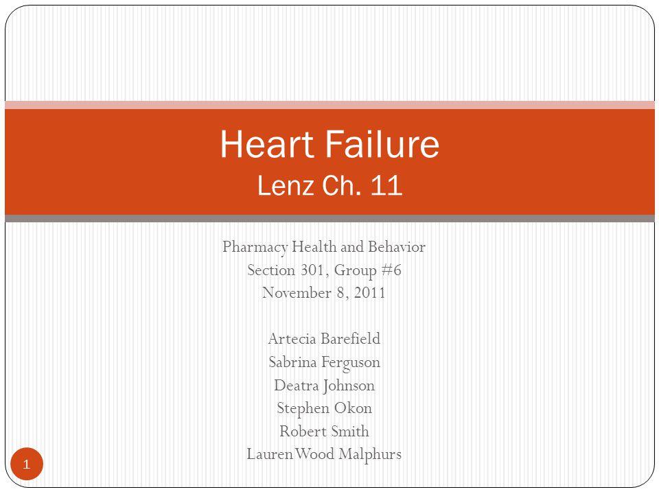 Pharmacy Health and Behavior Section 301, Group #6 November 8, 2011 Artecia Barefield Sabrina Ferguson Deatra Johnson Stephen Okon Robert Smith Lauren