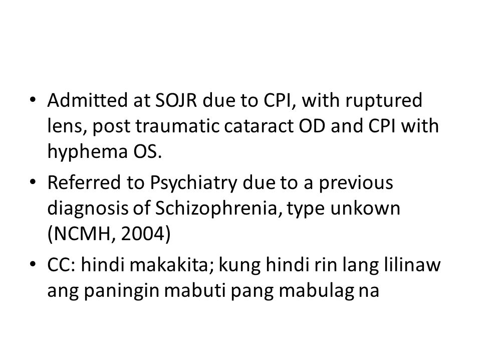 Anamnesis The patient was born full term via SVD to a then G2P1 motherin Samar with no FMC.