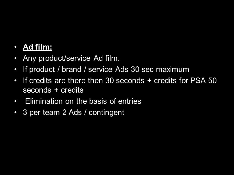 Ad film: Any product/service Ad film.
