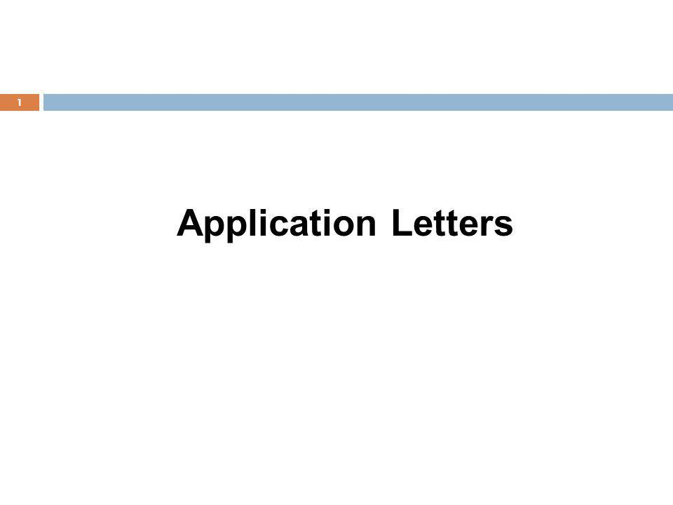 Application Letters 1
