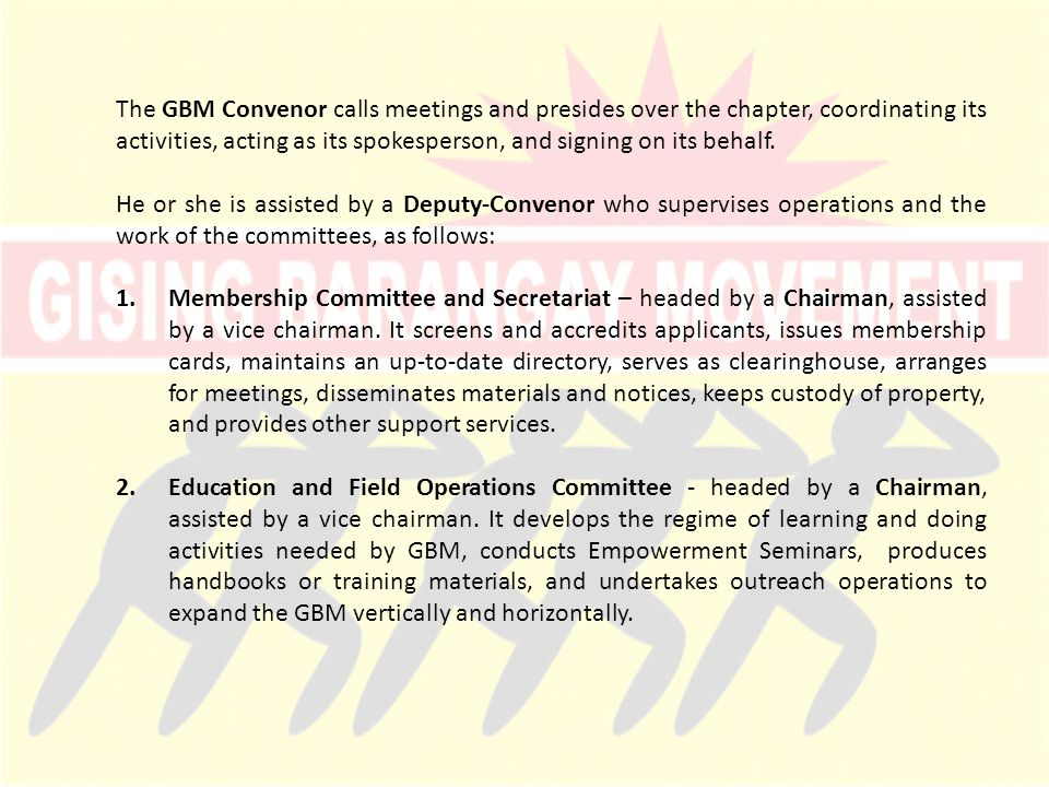 3.Ways and Means Committee – headed by a Chairman, assisted by a vice chairman.