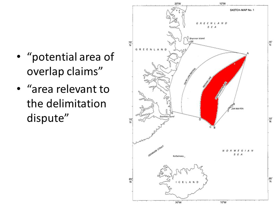 Case for Norway Delimitation already exists between Greenland and Jan Mayen – 1965 Bilateral Agreement – 1958 Geneva Convention on the Continental Shelf – Practice of the Parties