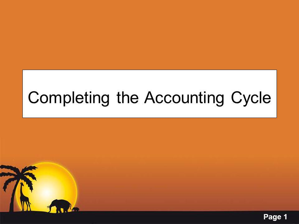 Page 1 Completing the Accounting Cycle