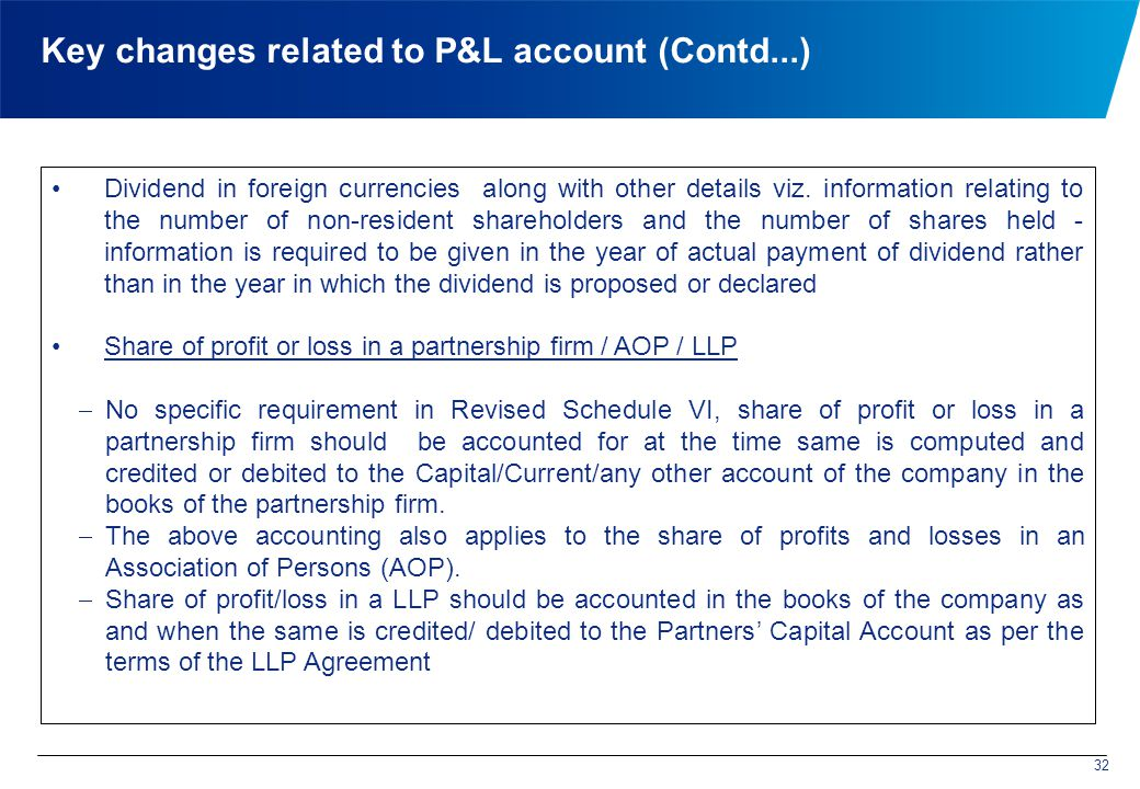 Key changes related to P&L account (Contd...) Dividend in foreign currencies along with other details viz.