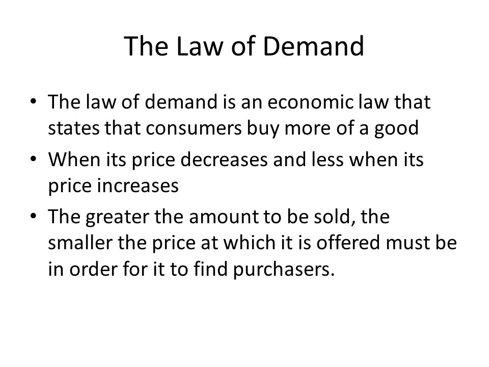 The law of Supply The law of supply is the tendency of suppliers to offer more of a good at a higher price The relationship between price and quantity supplied is usually a positive relationship When the quantity produces higher, the price also high That's the theory