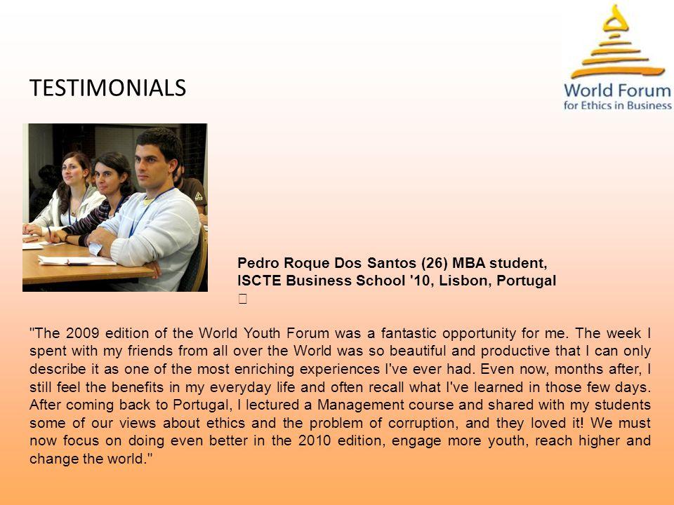 TESTIMONIALS Mr.Suhas Gopinath (23), CEO & President of Globals Inc.