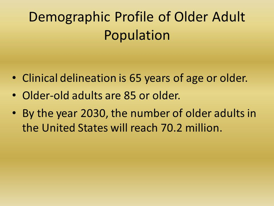 Realities of Aging Dementia is disease-related, not age-related.