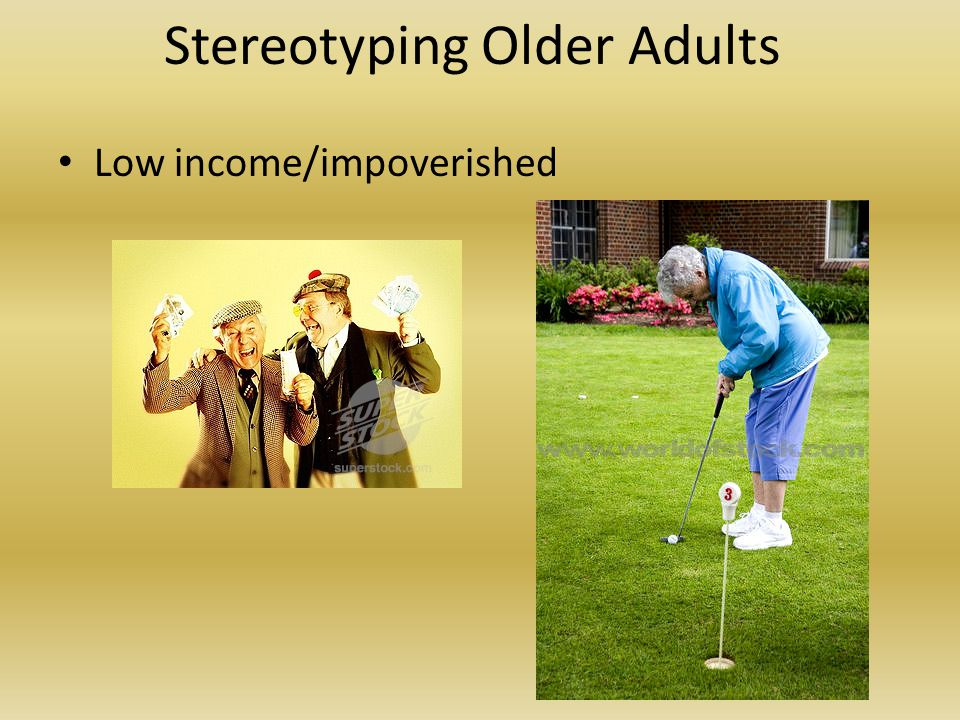 Stereotyping Older Adults Sexually inactive