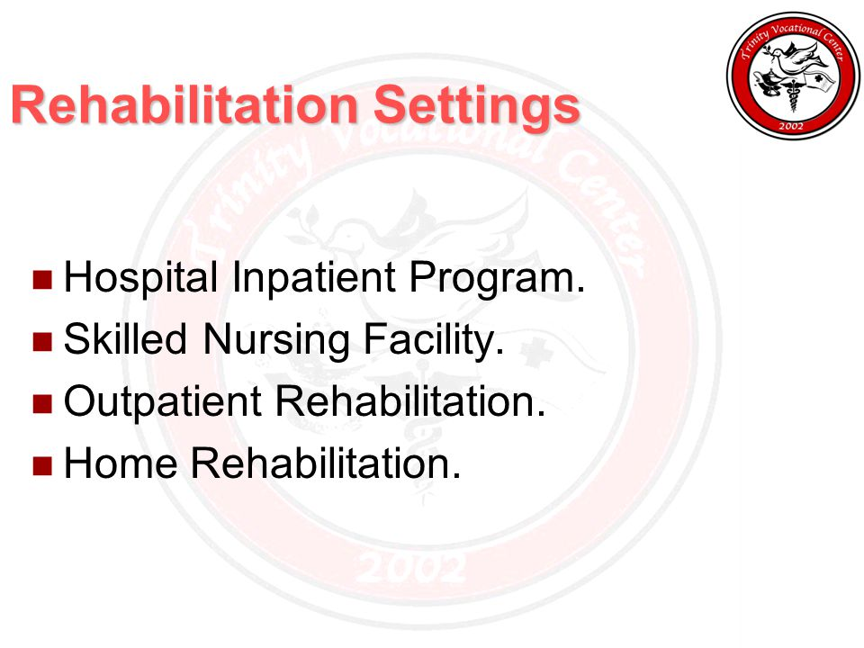 Rehabilitation Settings Hospital Inpatient Program.