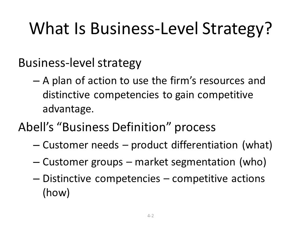3 levels of business planning