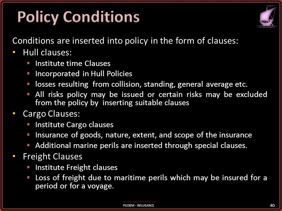 PGDBM - INSURANCE Insurable interest in the subject-matter insured must exist at the time of the loss. It need not exist when the insurance policy is