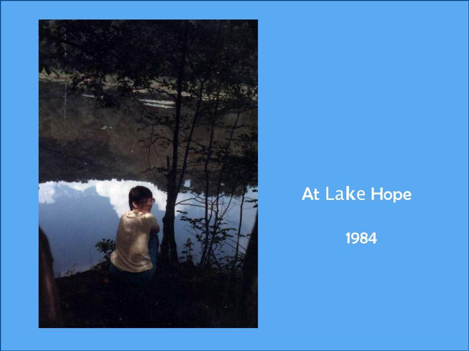 At Lake Hope 1984