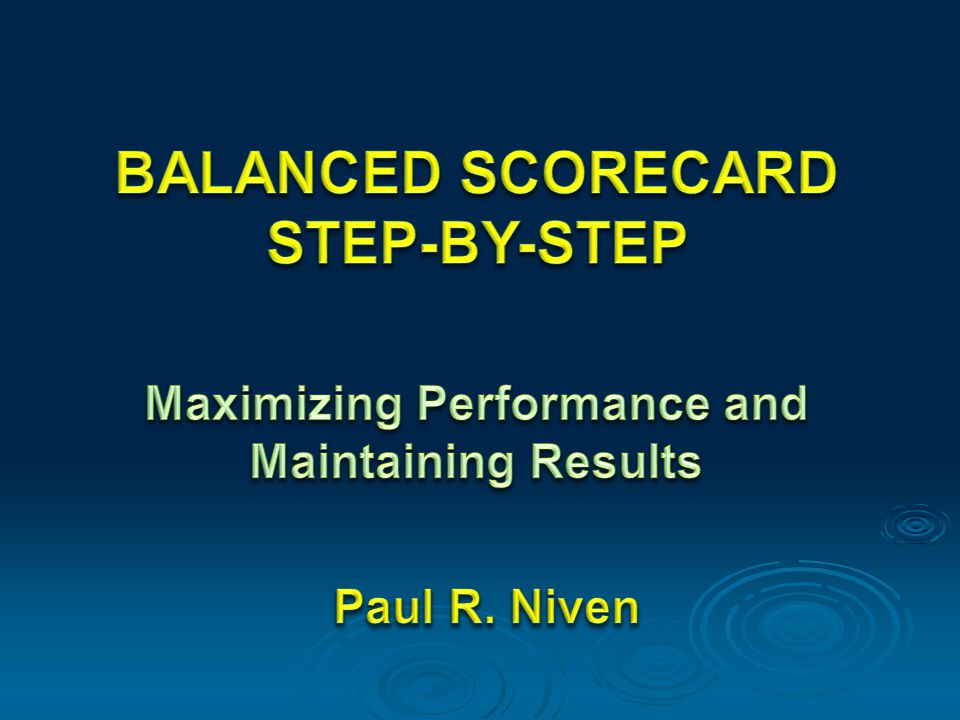Part One Introduction to Performance Measurement and the Balanced Scorecard Chapter 1 Performance Measurement and the need for a Balanced Scorecard From page 11 to page 20 Prepared by: Amira Mohamed Elamin