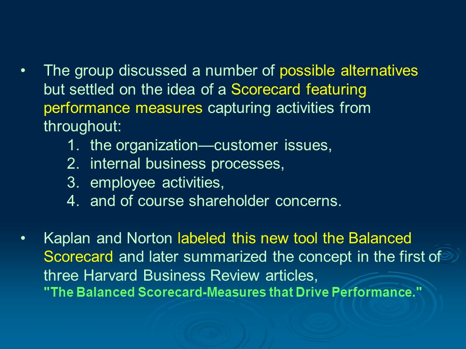 4- Financial Measures Financial measures are an important component of the Balanced Scorecard, especially in the for-profit world.