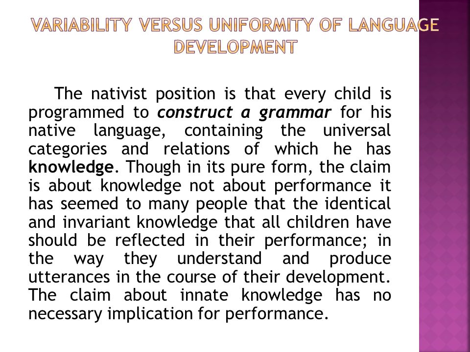  When learners reach a developmental stage, they may slowed down because of particular interlanguage pattern is similar to a pattern in their L1.