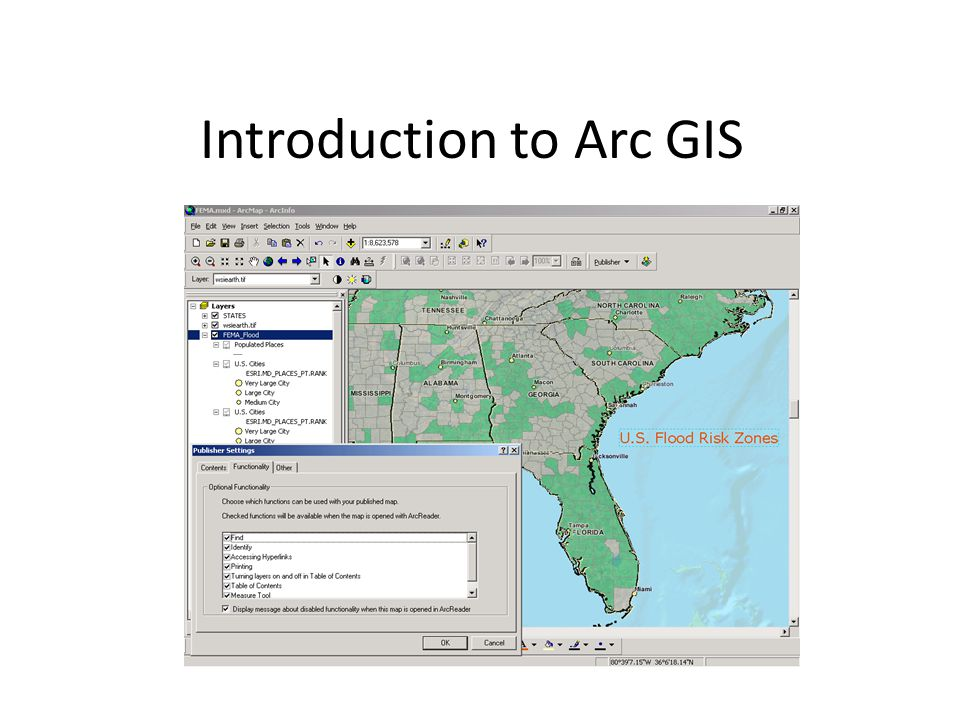 Introduction to Arc GIS