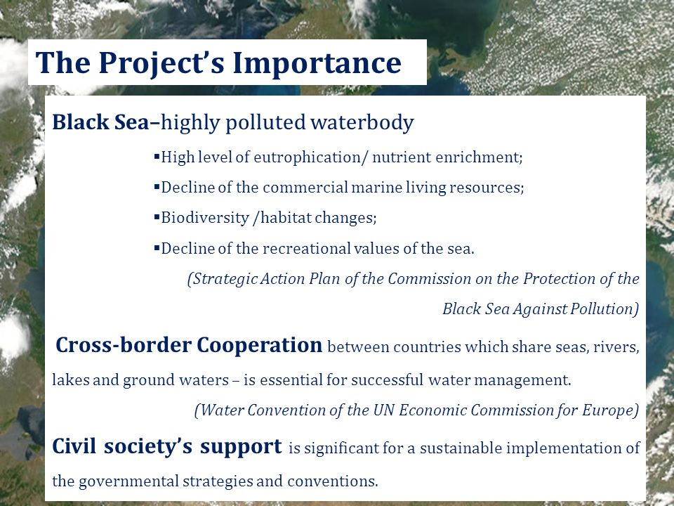 djfksdhf. Black Sea–highly polluted waterbody  High level of eutrophication/ nutrient enrichment;  Decline of the commercial marine living resources