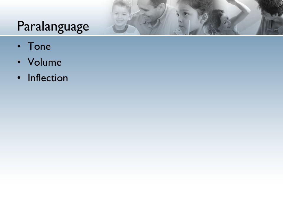 Paralanguage Tone Volume Inflection