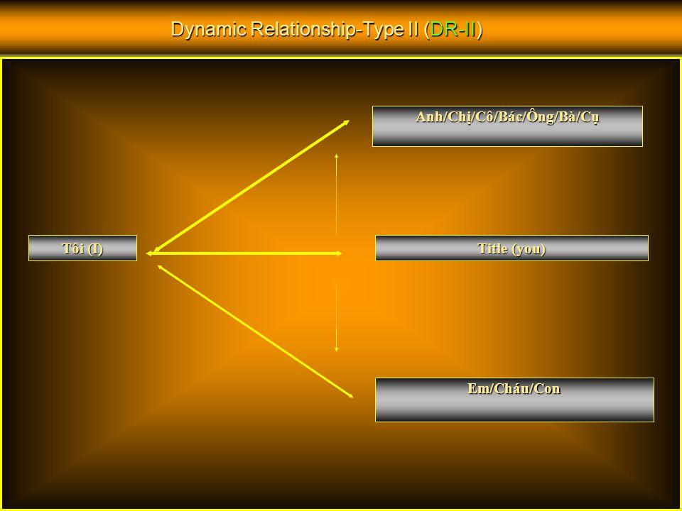 Dynamic Relationship-Type I (DR-I) Em/Cháu Tôi Chức danh