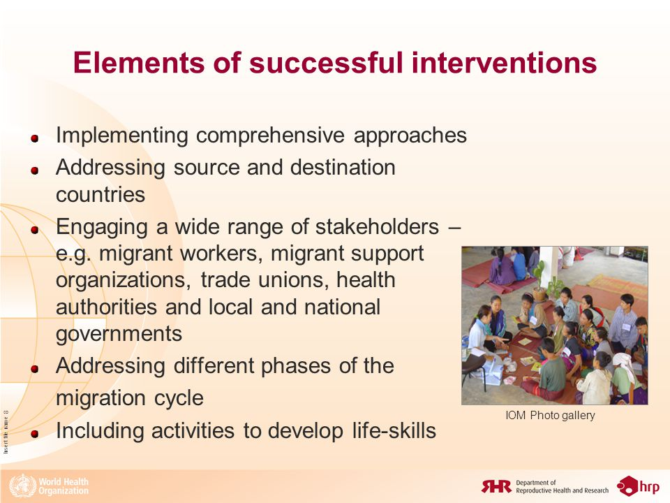 Insert file name 9 Elements of successful interventions Ensuring HIV interventions address SRH issues Using participatory approaches Developing culturally-sensitive messages in native languages Employing multiple channels of communication Xinhua
