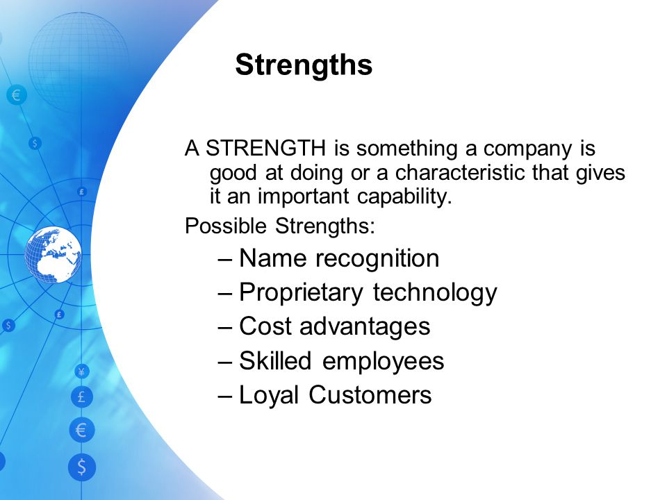 The purpose of SWOT Analysis It is an easy-to-use tool for developing an overview of a company's strategic situation –It forms a basis for matching yo