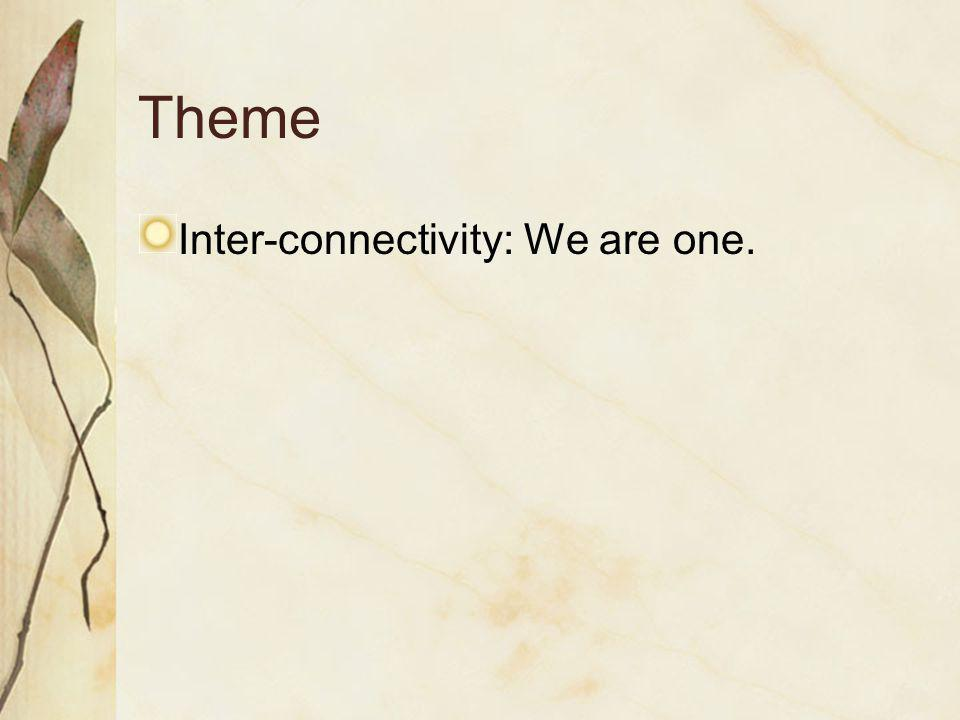 Theme Inter-connectivity: We are one.