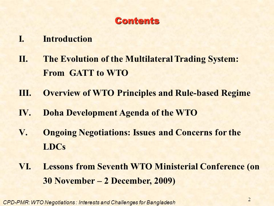 23 Expansion of services trade Progressive liberalization through successive rounds of negotiations Transparency of rules and regulations Increasing participation of developing countries Negotiations to take place on offer and request list Objectives of GATS IV.