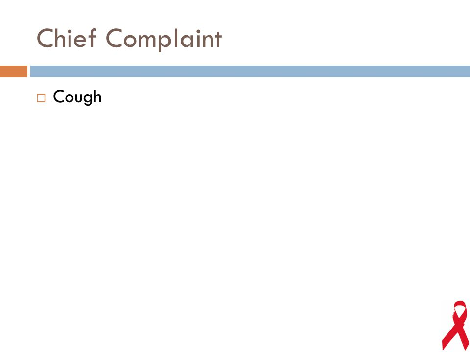 Chief Complaint  Cough