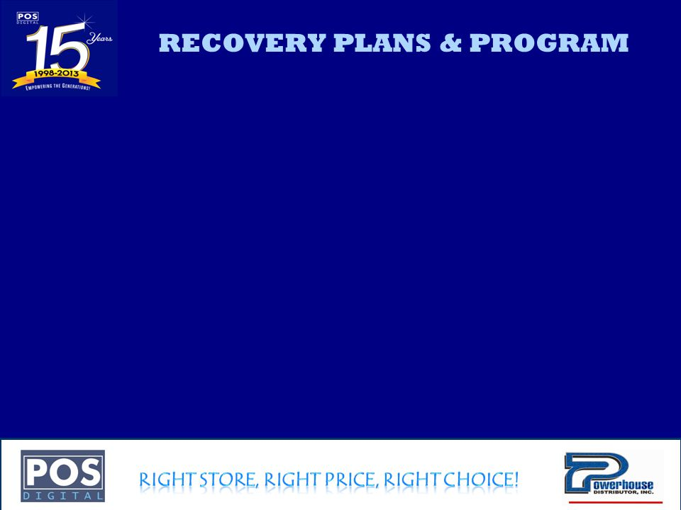 Company Confidential RECOVERY PLANS & PROGRAM