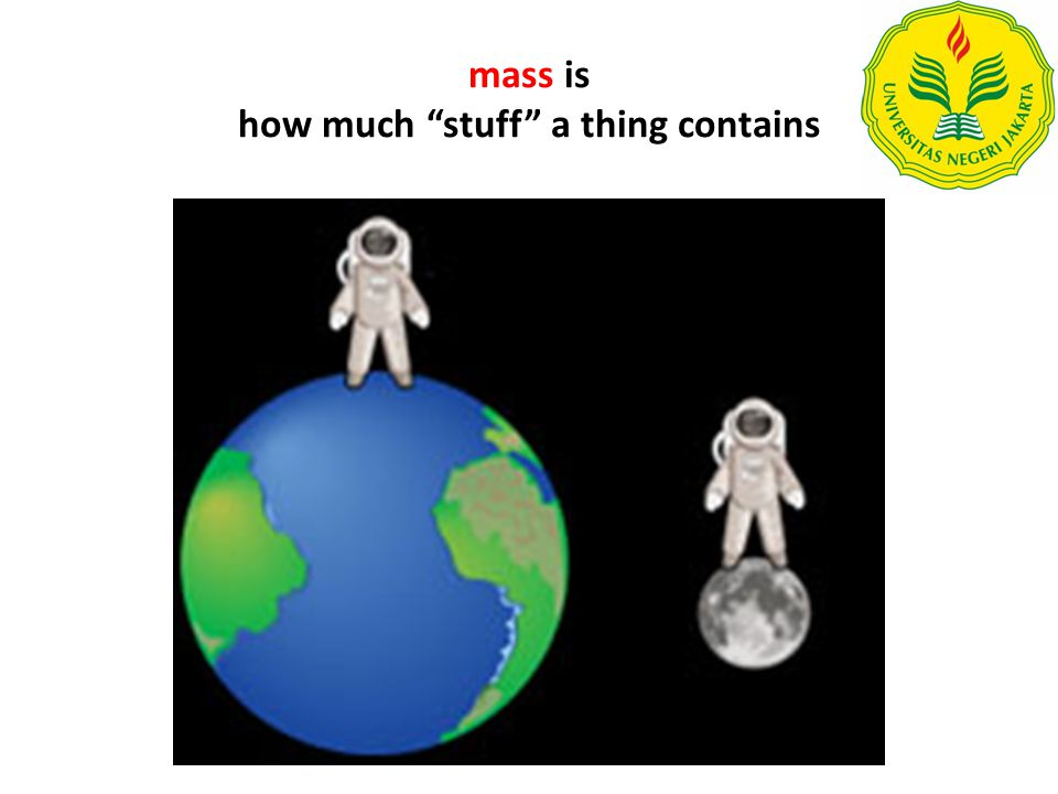 mass is how much stuff a thing contains