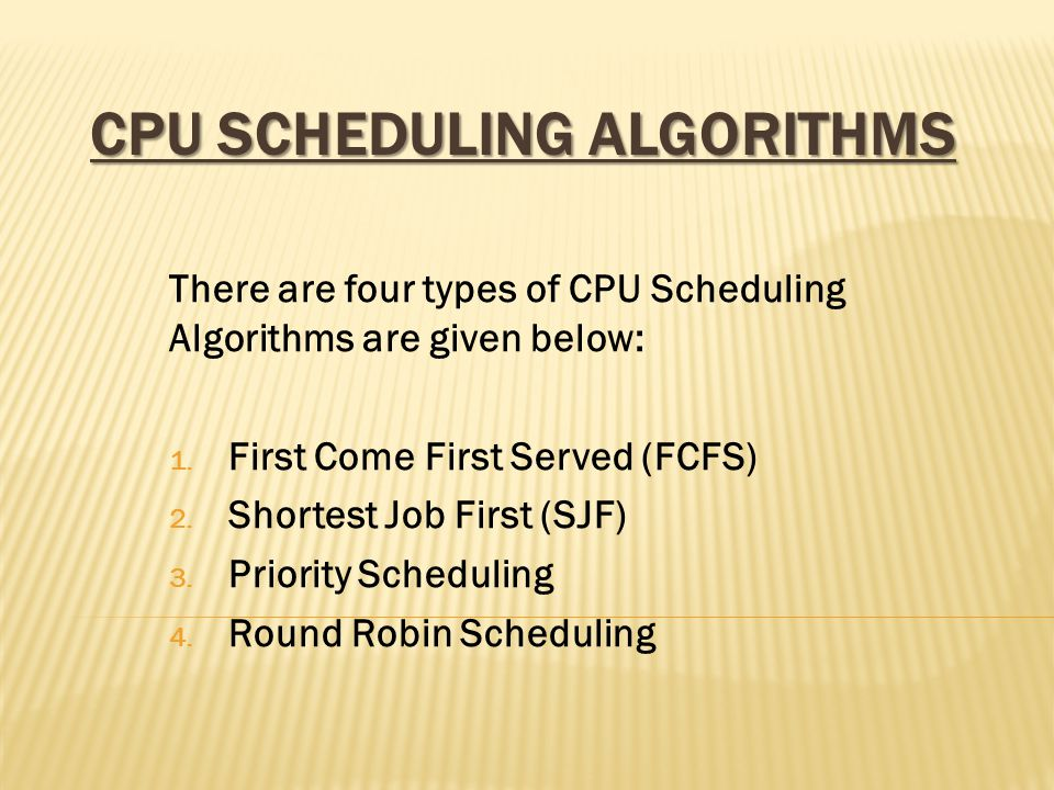ROUND ROBIN SCHEDULING The Round Robin Algorithm designed specially for time sharing system new processors are added to the tail of the ready queue