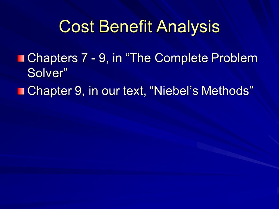 Uses and Importance of Cost Benefit Analysis Choose the most appropriate alternative to present to your management Sell the idea to your management!.